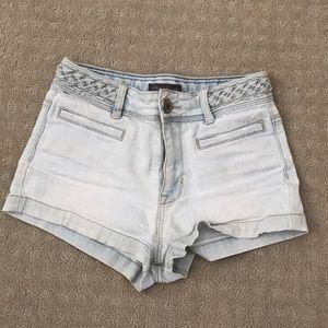 Braided Denim Shorts